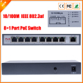 IEEE802.3af  PoE Switch 8 Port For IP Camera Power Over Ethernet PoE&Optical Transmission For IP Camera System Network Switches