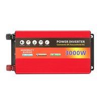 3000W Solar Household Power Inverter Voltage Transformer Pure Sine Wave Power Inverter DC12V to AC 220V Converter Charger Sale