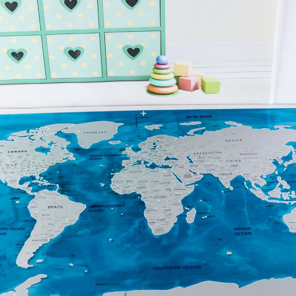 Deluxe Scratch Edition World Map Travel World Poster Map