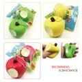 3 unids 8 cm verde/rojo kawaii fruit apple blandita lento aumento del teléfono/encanto del bolso correas juguetes para apretar squishies juguete niños