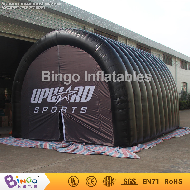 Free Shipping Inflatable Football Helmet Tunnel Inflatable Black Soccer Tunnel Tent for Sport Athletes Entrance toy tents