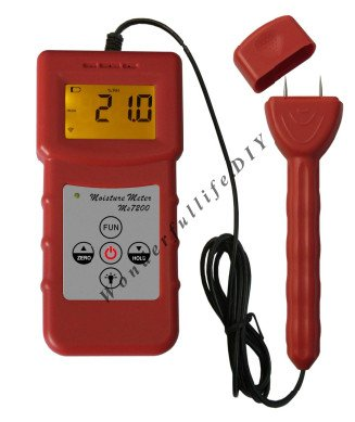 2 Pin Wood Moisture Meter for measuring moisture content of wood, Timber, paper mc 7806 wood moisture meter detector tester thermometer paper 50% wood to soil pin