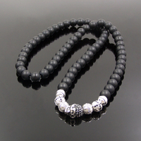 Free Shipping Thomas Style Matte Obsidian Bead Necklace Ts Rebel At Heart Chain Ribbon Masculine Character