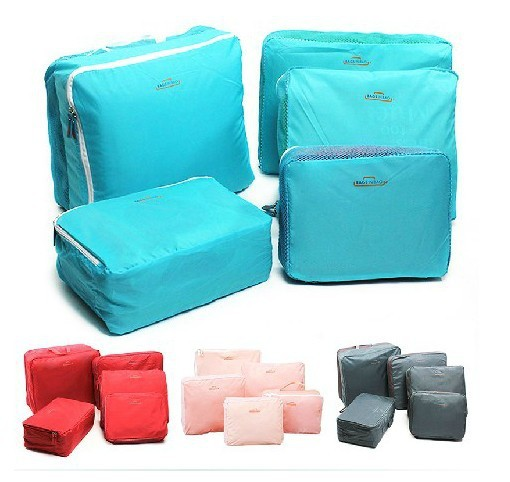 Free Shipping! Outdoor travel storage bag waterproof clothing storage bag five pieces set F615