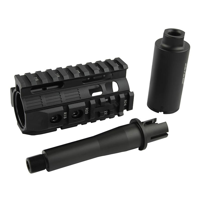 Hochwertiges CQB 4.0-Zoll-Handschutz-Schienensystem und Kombinationsanzug (BK / DE) für Airsoft AEG M4 / M16
