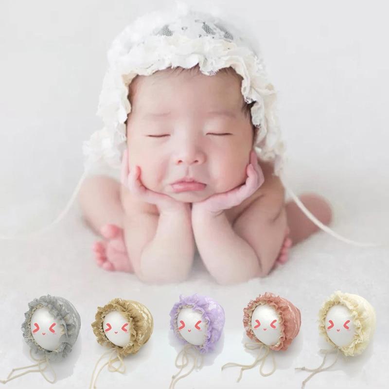 Весенняя шапка для новорожденных летняя Милая шапка принцесса кружевная шапка для младенцев девочек оборки на шнуровке детский реквизит д...