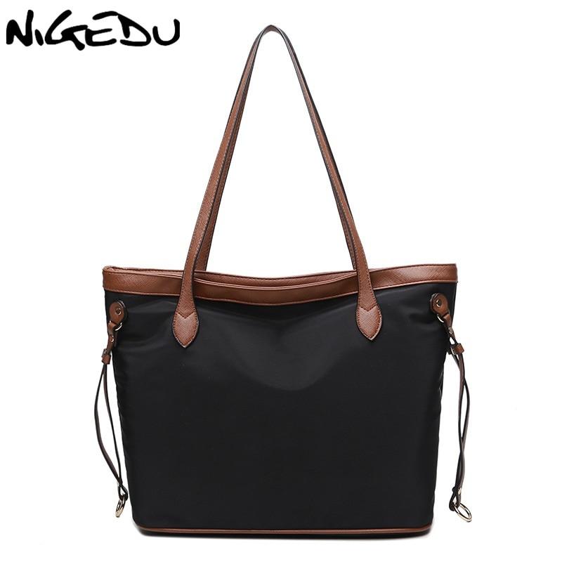 Fashion Women big Tote Bag Casual nylon Shopping Bag Large Capacity Designer Handbags Ladiies tassel Shoulder Bags bolsa