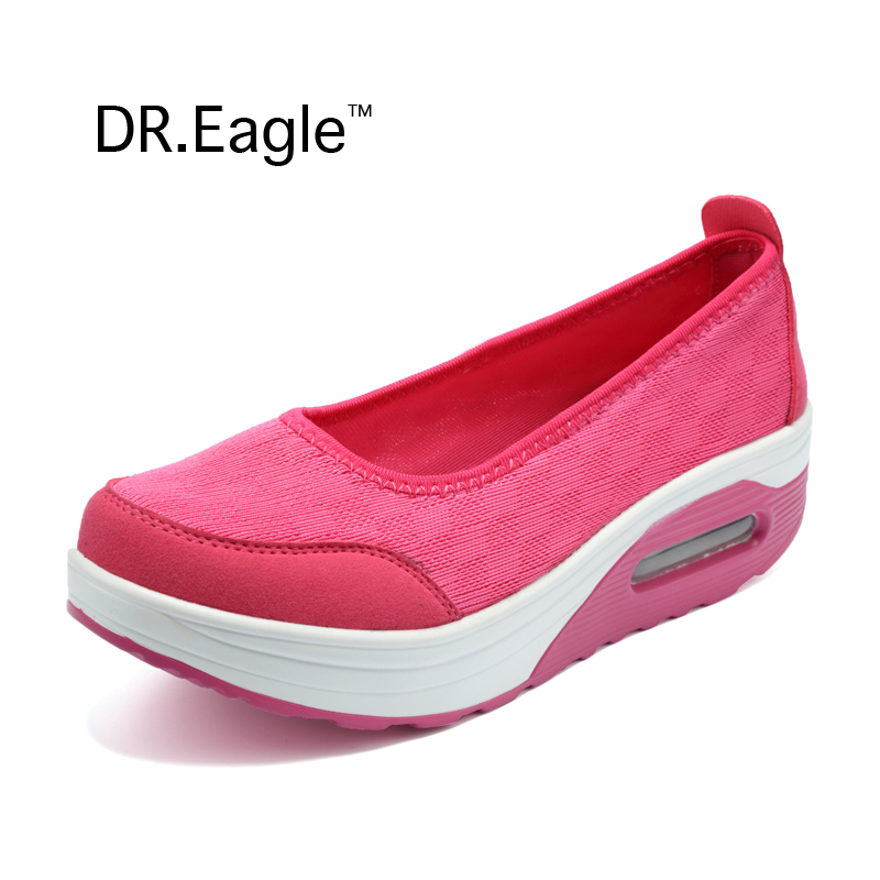 Model Women Running Shoes 2016 Summer Breathable Brand Swing Wedges Shoes ShoesA115 Comfortable Sport ...