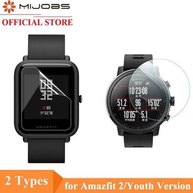 Mijobs 2 Pcs לxiaomi Huami Amazfit ביפ קצב Lite שעון רך TPU מסך מגן נאמי (לא מזג זכוכית) מגן סרט