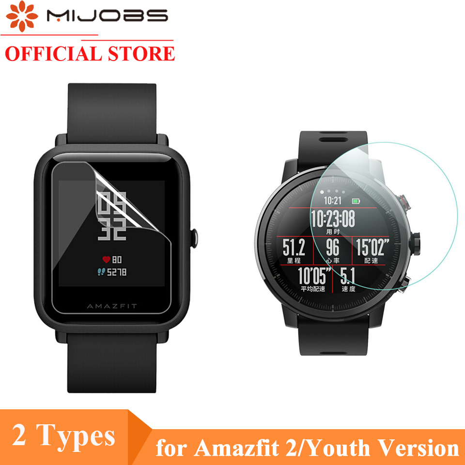 Mijobs 2Pcs For Xiaomi Huami Amazfit GTS Bip PACE Lite Watch Soft TPU Screen Protector Nami (Not Tempered Glass) Protective Film