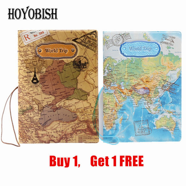 Hoyobish 2018 3d travel wallet passport holder document organizer hoyobish 2018 3d travel wallet passport holder document organizer vintage world map passport cover id card gumiabroncs Image collections