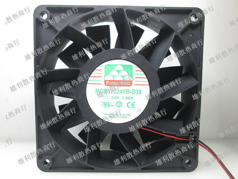 Free Delivery.MGA12024YB-O38 24V 1.08A 12CM 12038 Cooling Fan free delivery original afb1212she 12v 1 60a 12cm 12038 3 wire cooling fan r00
