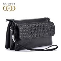 Coofit Fashion Crocodile Clutch Bag PU Clutch Purse For Women Zipper Wrist Bag Large Capacity Wallet