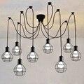 Vintage Iron Pendant Lamp With 1.5M Wire,Single Head/3 Head/6 Head/8 Head/10 Head E27 110-240V Parlor Hotel Hall Indoor Lighting