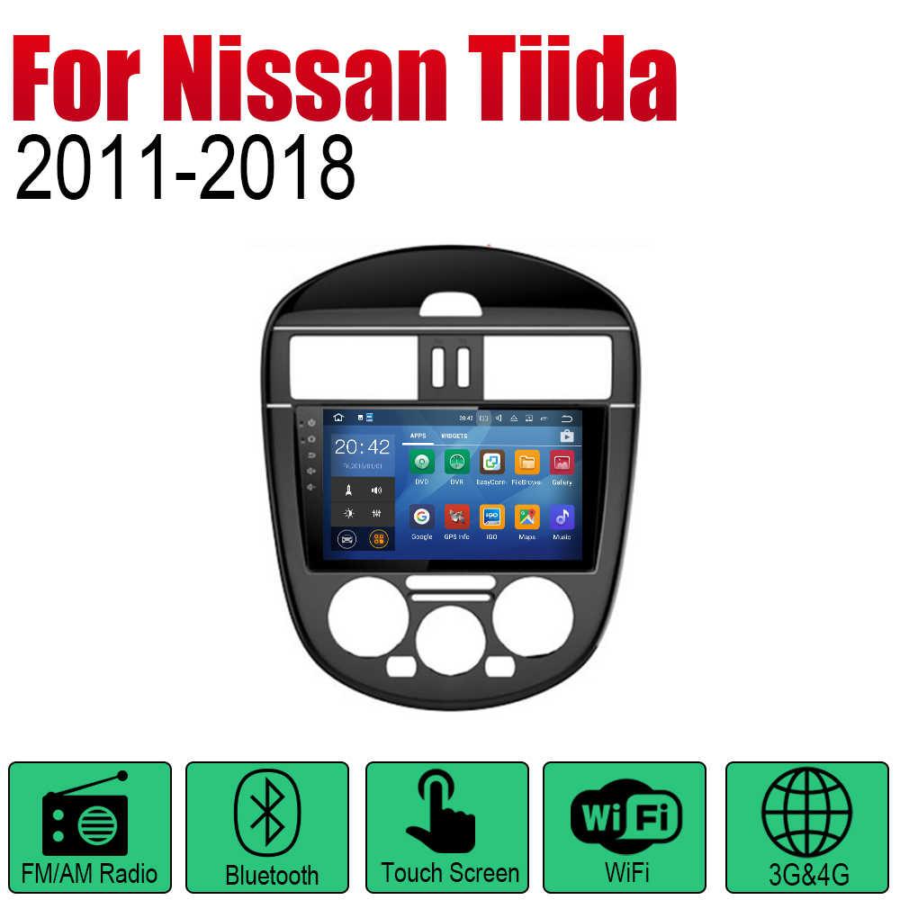 ZaiXi アンドロイド Gps ナビゲーション日産ティーダ 2011 〜 2018 の bluetooth wifi 2din カーラジオステレオマルチメディアプレーヤー