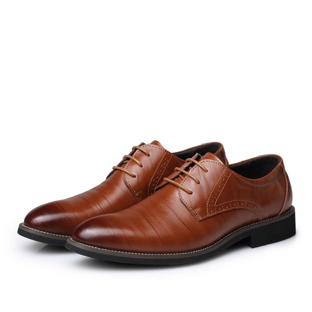 Britannique Bout bw 2019 scarf Oxford Chaussures Brun we Lacets Noir ny Jan4 Bk Cuir Formelle En Hommes Nouveau Pointu Style D'affaires Robe À 6pxHPqqd