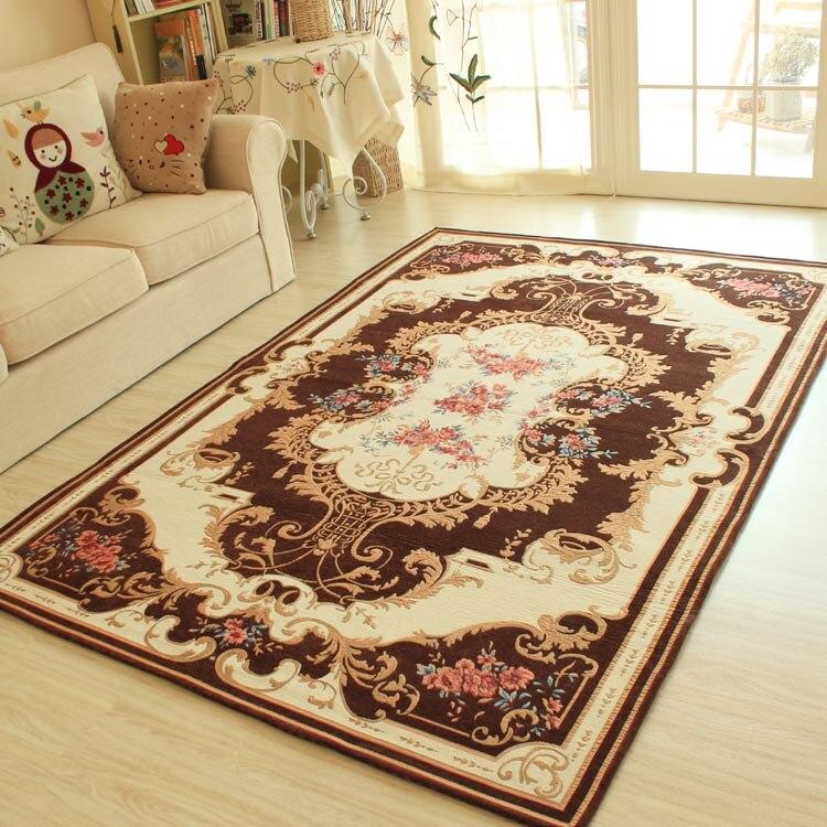 HUAMAO Big Carpets For Living Room Europe Pastoral Bedroom