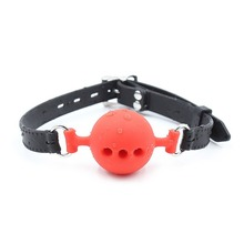 Silicone Mouth Gag Oral Open Mouth Breathable Ball Gag Restraints Flirting Sex Toys for Couples Adult Erotic Game silicone leather dragging mouth mouth stuffed ball adult game restraints flirting sex toys for couples erotic bondage