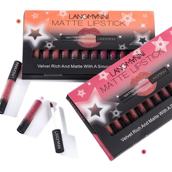 New coming matte lipstick set Waterproof  4