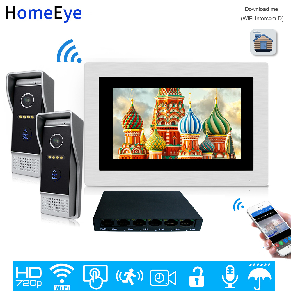 HomeEye 720P WiFi IP Video Door Phone Video Intercom Home Access Control System Android/IOS APP 1.0MP Camera Video Record Alarm