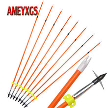 12pcs Archery Fishing Arrow 32inch Fiberglass Professional Shooting Fish Arrowhead Outdoor Bowfishing Hunting Accessories