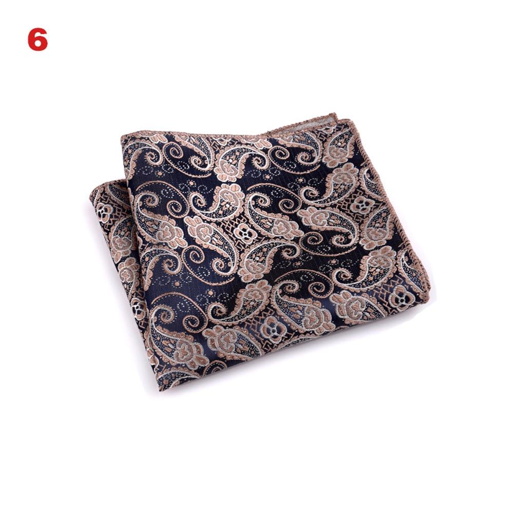Vintage Men British Design Floral Print Pocket Square Handkerchief Chest Towel Suit Accessories OH66