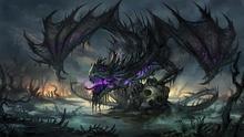 Living room home wall decoration fabric poster Fantasy art dragons beasts skulls canvas Fabric Canvas EX068