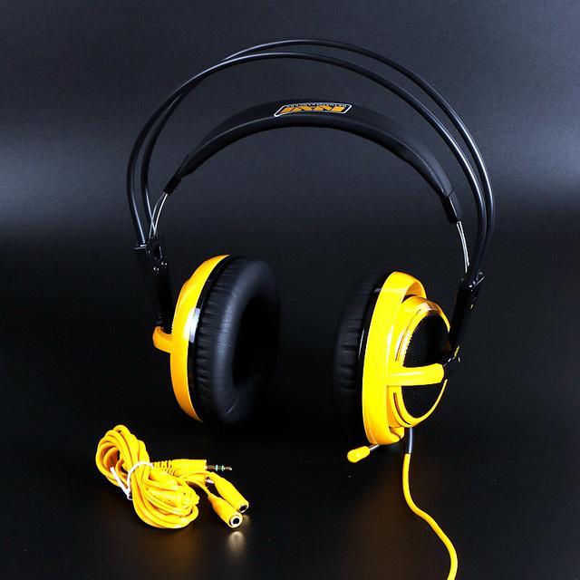 Marca steelseries siberia v2 natus vincere edición gaming auriculares con aislamiento de ruido auriculares de juegos de auriculares + cable de extensión