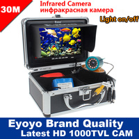 Eyoyo Original 30M 1000TVL Fish Finder Underwater Fishing 7 Video Camera Monitor AntiSunshine Shielf Sunvisor Infrared
