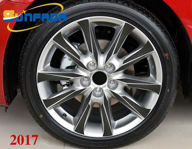 Mazda 3 Rims >> Sunfada 18 Inch Wheel Rims Hub Carbon Fiber Car Stickers For New