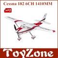 Aviones RC de Cessna 182 versión EPO sin escobillas 1.41 M 2.4 Ghz 6 canales de control remoto avión