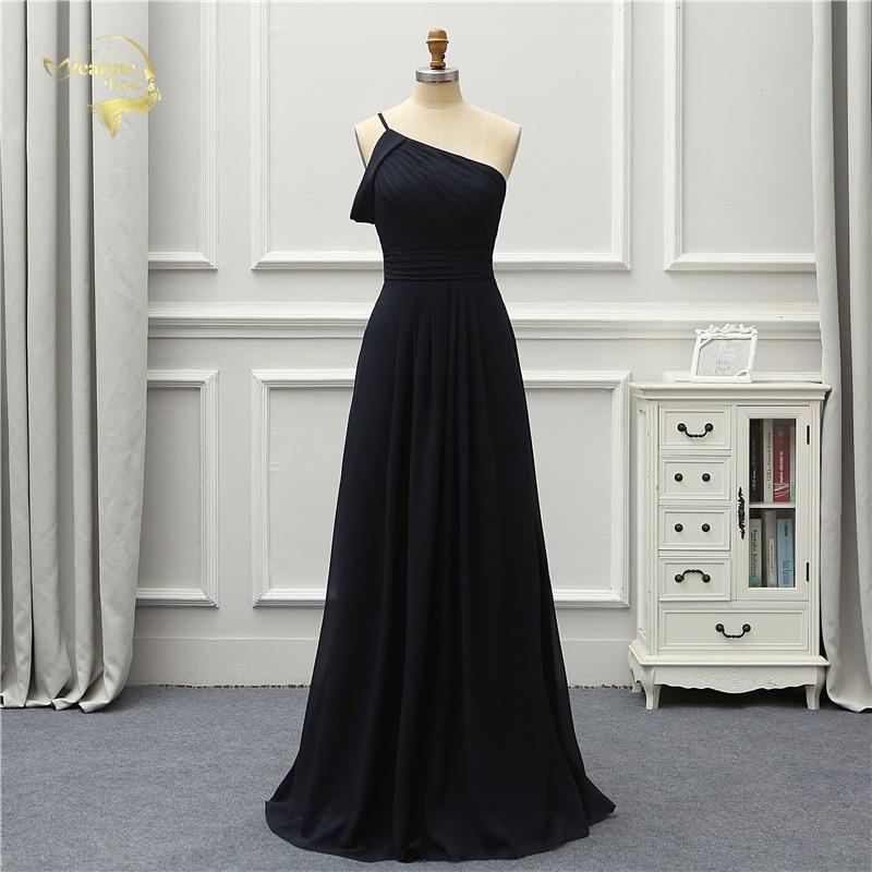 Jeanne Love Formal Luxury Evening Dress New Arrival Black One Shoulder Party Robe De Soiree Vestido De Festa OL5221 Prom Gowns 2