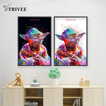 Wall Printing Canvas Poster Art Paintings Star Wars Yoda By Alessandro Pautasso Oil Painting For Unique Gift Home Decor