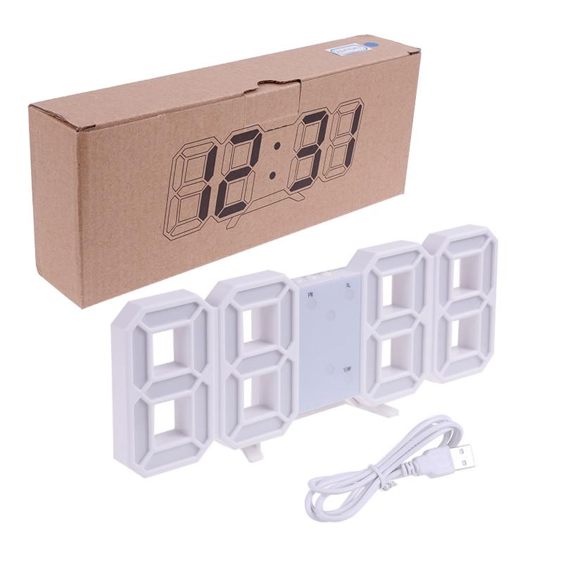Anpro 3D Large LED Digital Wall Clock Date Time Celsius Nightlight Display Table Desktop Clocks Alarm Clock From Living Room 14