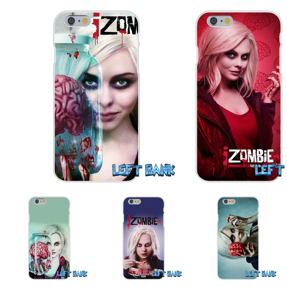 Izombie Soft Silicone TPU Transparent Cover Case For iPhone 4 4S 5 5S 5C SE 6 6S 7 Plus