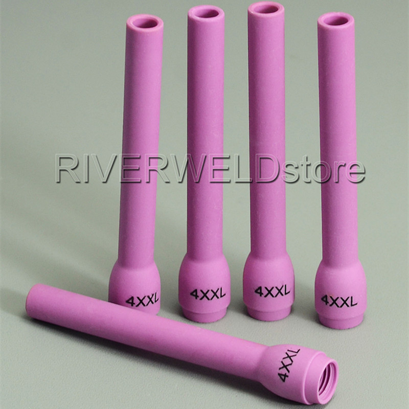 TIG Long Nozzle 796F79 #4L Extended Alumina Ceramic Cup For TIG Welding Torch Consumables SR PTA DB WP 9 20 25 Series,5PK