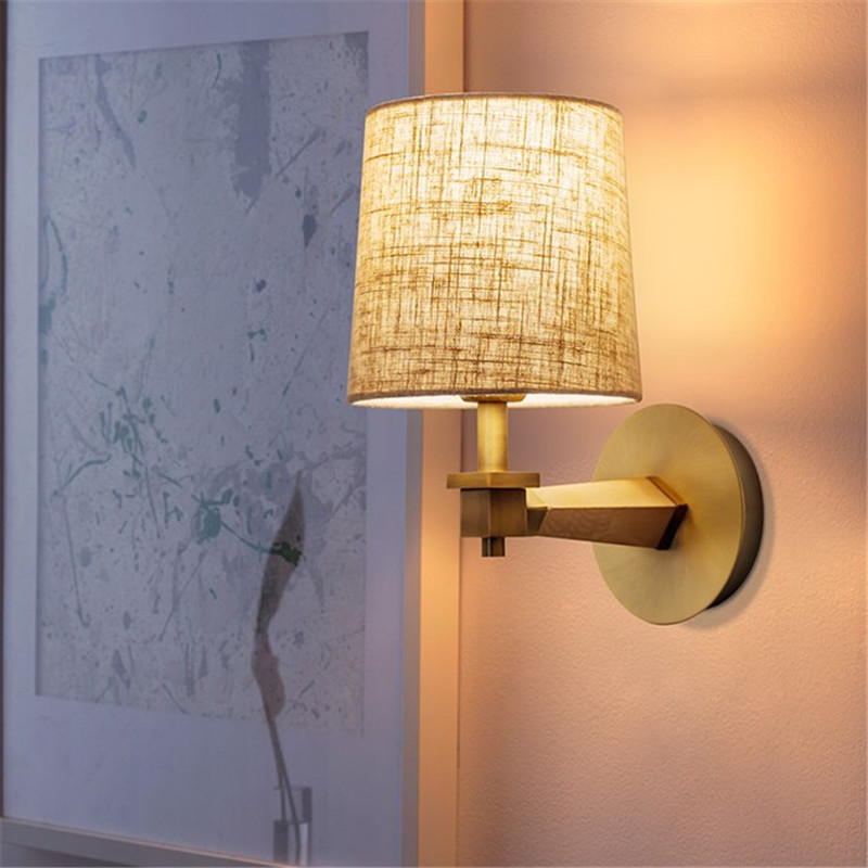 Simple Fabric Tall Wall Light: Simple Modern Wall Sconce Fabric Shade LED Wall Lamp