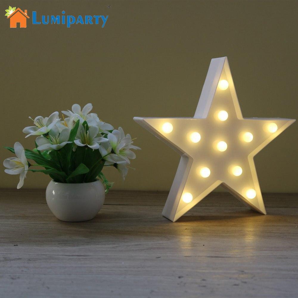 Декоративные буквы свет звезды Форма LED Пластик шатер свет Батарея действовали led знаковое событие для дома Рождество Аксессуары