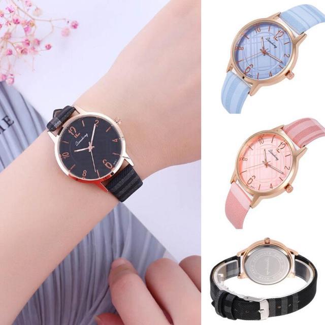 פשוט אופנתי יפה גבירותיי שעוני יד טמפרמנט קוורץ שעון עסקי נירוסטה מזכרות שעון נשים 2018 # D