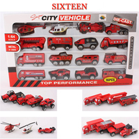 16pcs High Quality 1 64 Scale Alloy Mini City Vehicle Toy Model Kids Toys Gift Education