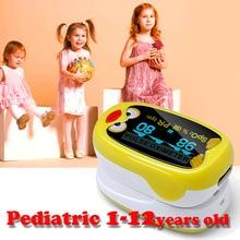 Pédiatrique oxymètre de pouls pour Enfant Enfants 1-12 ans avec Rechargeable Batterie Ossimetro oxymetre