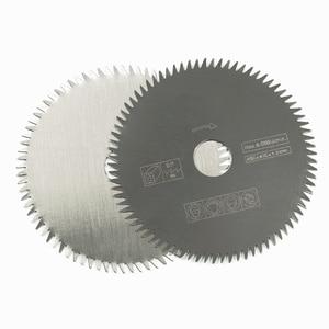 Image 3 - 1XCAN 1pc 85mm נשא 10/15mm 80 שיניים חשמלי HSS מיני מסור עגול להב כוח כלים אביזרי עץ/מתכת חיתוך דיסק