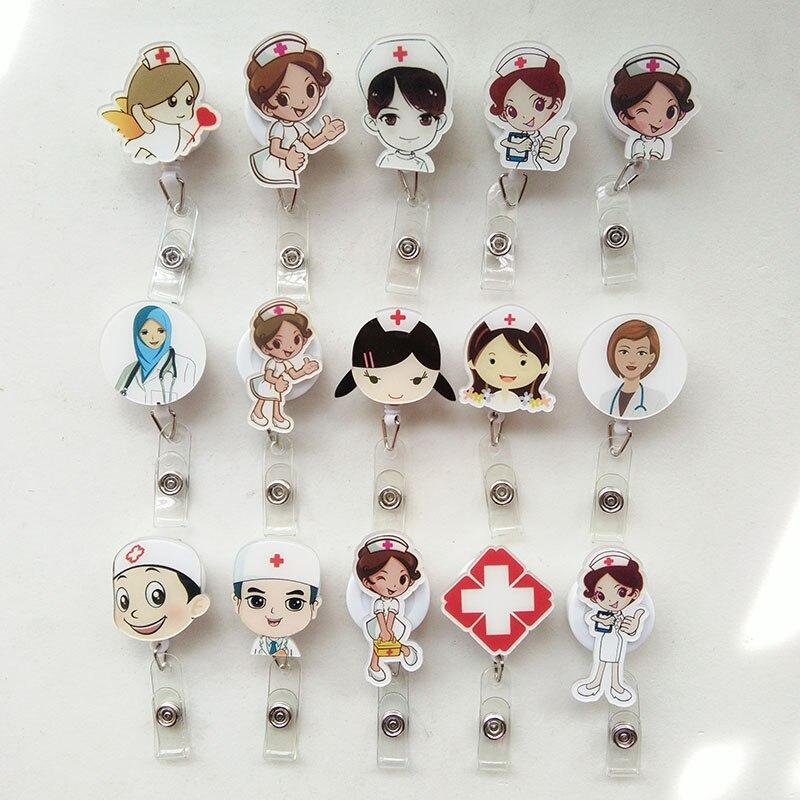 2017 New Design Nurse Retractable Badge Reel Pull ID Card Badge Holder Belt Clip Hospital School Office for Man Woman K031 стоимость