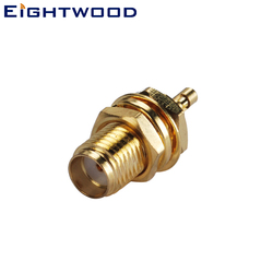 Eightwood 5PCS SMA Jack Female Bulkhead RF Coaxial Connector Adapter Solder RG178 1.37 1.13mm Cable for Antenna Base station