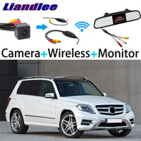 Liandlee 3in1 Wireless Receiver Mirror Monitor Special Rear View Camera Backup For Mercedes Benz GLK Class MB X204 2009~2016