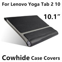 Case Cowhide For Lenovo Yoga Tablet 2 10 Protective Cover Genuine Leather For YOGA Tab 2