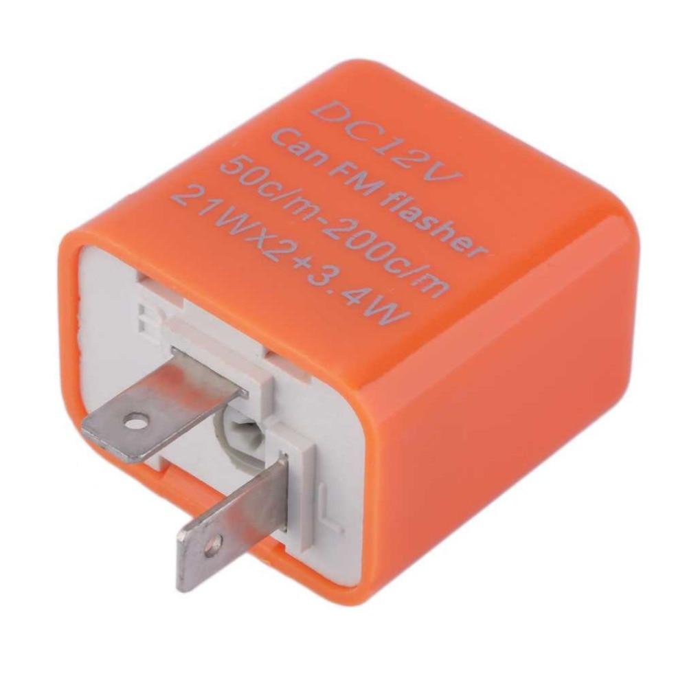 2 Pin Universal Flashing LED Flasher Adjustable Motorcycle LED Lights Flash Relay Turn Signal Indicator