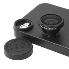 3 in 1 Phone Lens Kit With Phone Cases Fish eye Fisheye lenses Wide Angle Macro lentes For iPhone 4 4s 5 5s 6 6s 7 Plus