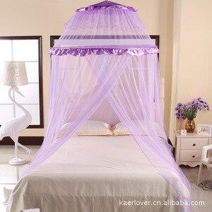 2017 новая летняя подвесная королевская кровать от комаров для принцессы, потолочные купольные дворцовые сетки, применимые все размеры, каче...