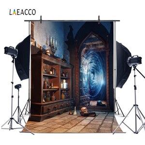 Image 3 - Laeacco Magic Mirror Old Bottle Shelf Grunge Vintage Portrait Photography Backdrop Photo Background Baby Photophone Photo Studio